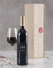 Personalised Anniversary Year Backsberg Wine