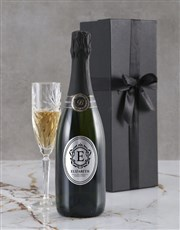 Personalised Elegant Monogram Backsberg Wine