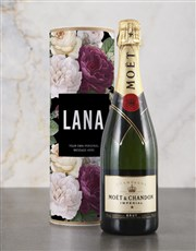 Personalised Floral Bubbly Tube