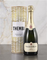 Personalised Refined Gold Bubbly Tube