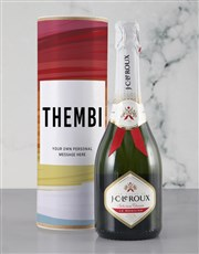 Personalised Colourful Canvas Bubbly Tube