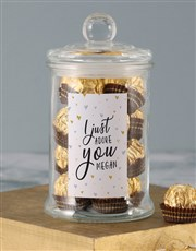 Personalised Adore You Ferrero Jar
