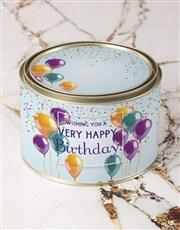 Personalised Birthday Wishes Hot Choc Tin
