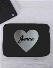 Personalised Heart Laptop Sleeve