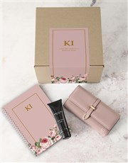 Personalised Pink Purse And Notebook