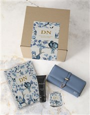 Personalised Blue Purse And Notebook