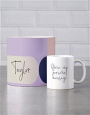 Personalised Modernist Mug Tube