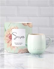 Personalised Mint Le Creuset Mug Tube