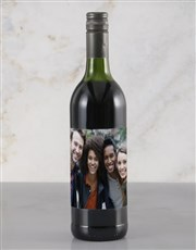 Personalised Photo Red Wine