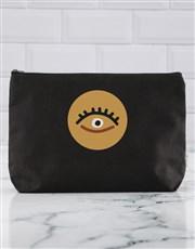 Personalised Gold Eye Cosmetic Bag