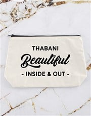 Personalised Beautiful In And Out Cosmetic Bag