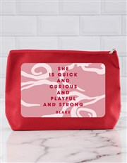 Personalised She Is Cosmetic Bag