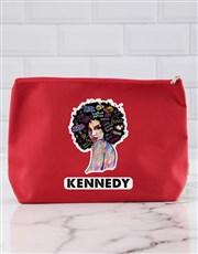 Personalised Graffiti Girl Cosmetic Bag