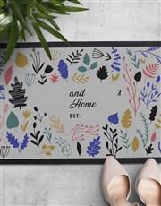 Personalised Floral Names Doormat