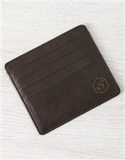 Personalised Brilliant Brown Card Holder