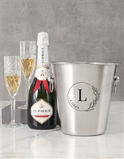 Personalised Initial In Florals Ice Bucket