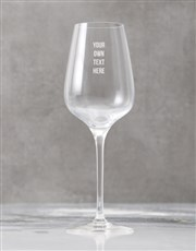Personalised Bold Message Wine Glass