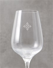 Personalised Floral Initial Wine Glass