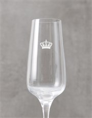 Personalised Crown Monogram Champagne Flute