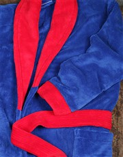 Personalised Red and Blue Fleece Gown