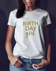 Personalised Birthday Girl Shirt In A Tin