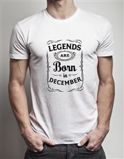 Personalised You Are A Legend Shirt In A Tin