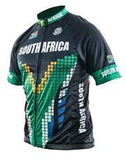 Personalised Mens South Africa Cycling Shirt