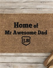 Personalised Awesome Dad Doormat