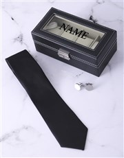 Let dad store those watches in style with this Bla