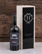Personalised Vintage Monogram Wine Crate