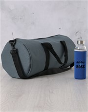 Personalised Black The Boss Water Bottle