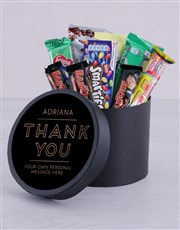 Personalised Thank You Hat Box