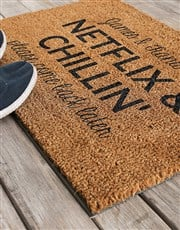 Personalised Netflix and Chilling Doormat