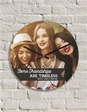 Personalised Timeless Friendships Clock