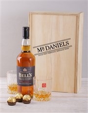Personalised Title Whisky and Crystal Crate