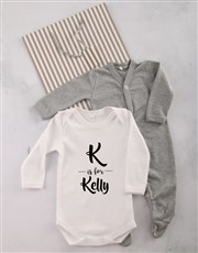 Personalised Initial and Name Onesie