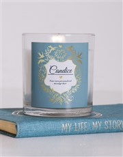 Personalised Vintage Shield Candle