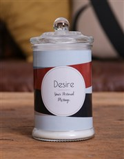 Personalised Striped Candle Jar
