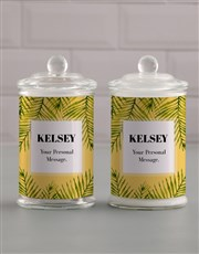 Personalised Summery Candle Jar