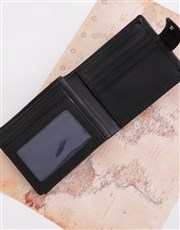 This black Manhattan leather billfold wallet is th