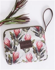 Personalised Protea Tablet Zip Up Pouch