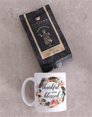 Personalised Thankful and Blessed Mug