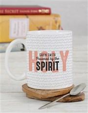 Personalised Powered By The Holy Spirit Mug