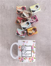 Personalised Rejoice in the Lord Mug