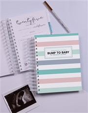 Personalised Bump to Baby Pregnancy Journal