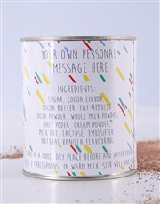 Personalised Congratulations Hot Chocolate Tin