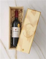 Personalised Regal Wine Crate