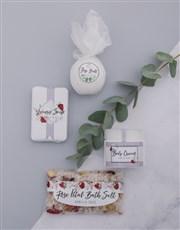 Personalised Rose Bath Keepsake Box