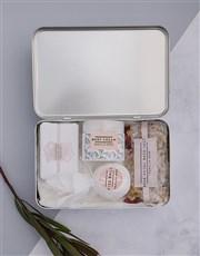 Personalised Floral Bath Keepsake Box