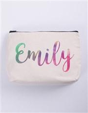 Personalised Watercolour Cosmetic Bag
